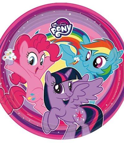 Cialda tonda in pasta di zucchero A3- My Little Pony 30 cm