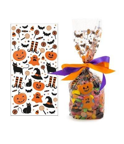 bustine trasparenti halloween- 20 pezzi