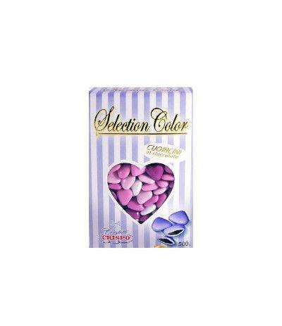 confetti cuoricini lilla selection- 500 gr