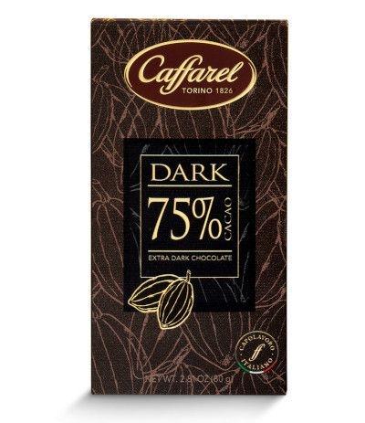 barretta caffarel dark 75%- 80 gr