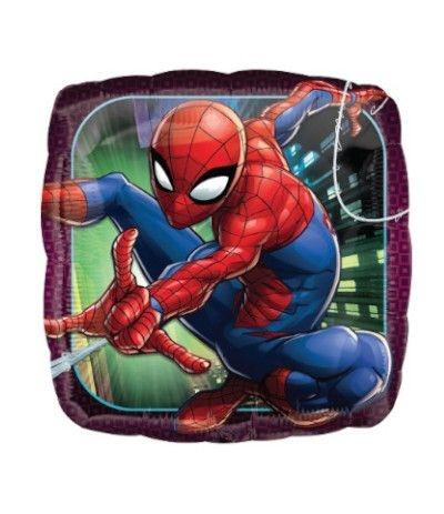 palloncino mayler spiderman quadrato- 45 cm
