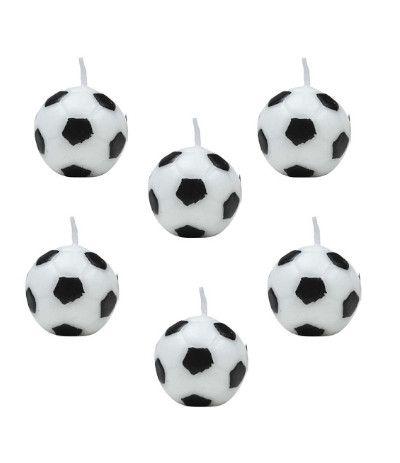 candele palloni calcio juve- 6 pezzi
