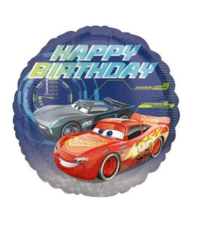 palloncino cars happy birthday- 45 cm