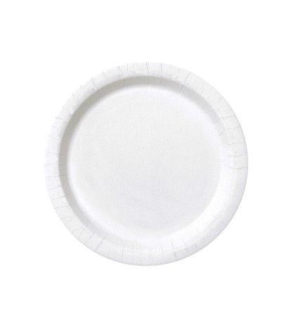 piattini bianchi carta- 20 pezzi