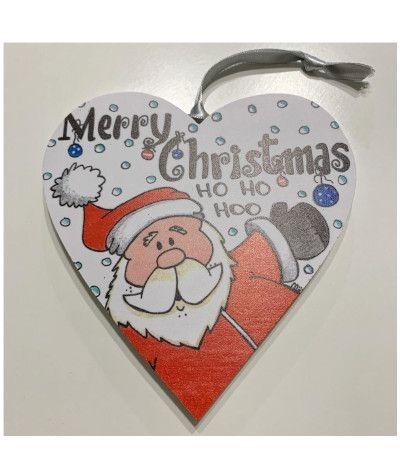 cuore legno merry christmas