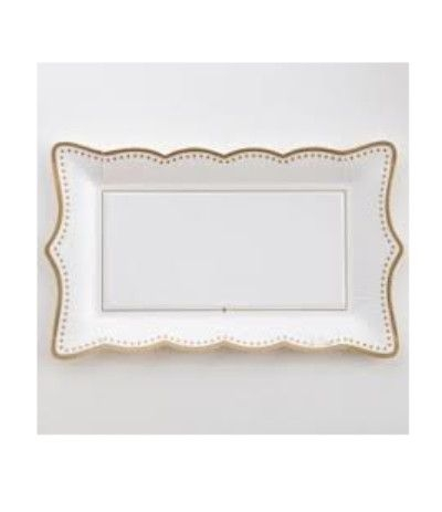 vassoietto carta natale oro- 30 x 18 cm 4 pezzi