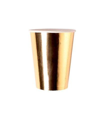 bicchieri natale oro- 8 pezzi