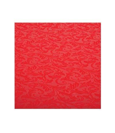 tovaglia rossa damascata- 140 x 240 cm
