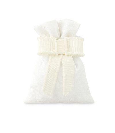 sacchetto bianco con fiocco