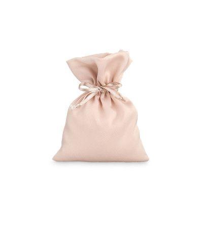 sacchetto raso cipria- 10 x 14 cm