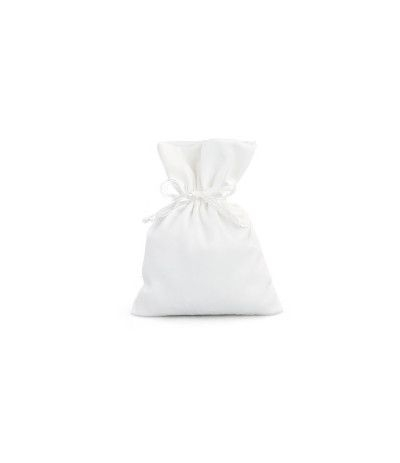 sacchetto raso avorio- 10 x 14 cm