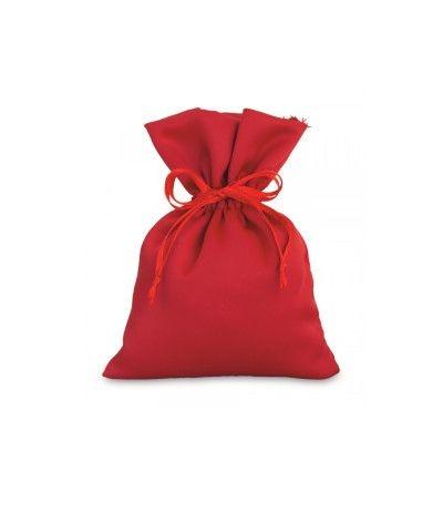 sacchetto raso rosso- 10 x 14 cm