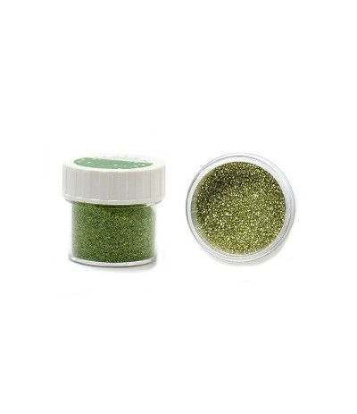 zucchero glitterato verde- 9 gr