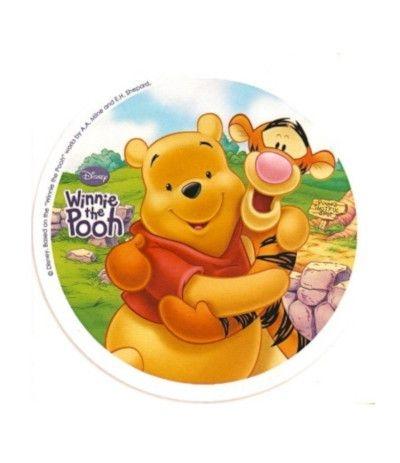 Cialda tonda in pasta di zucchero A4- Winnie The Pooh 20 cm