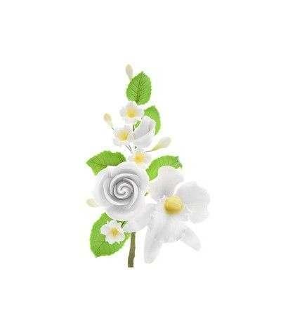 ramo rose e orchidea