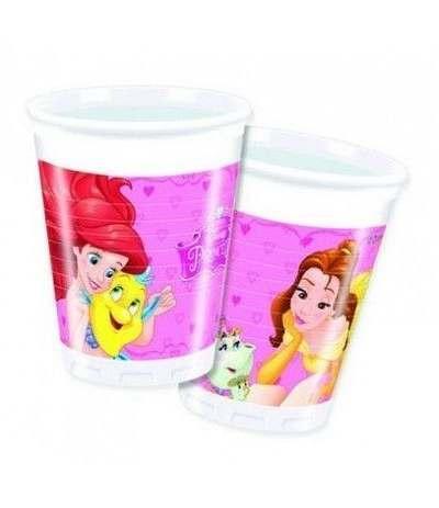 bicchiere principesse- 8 pezzi