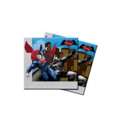 tovaglioli batman superman- 20 pezzi