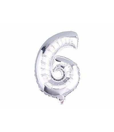 palloncino mylar argento n.6- 35 cm