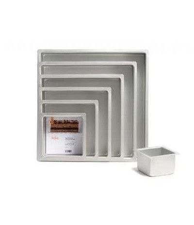 teglia anodizzata quadrata- 10 h x 20 cm