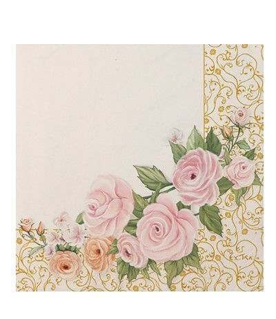 tovaglioli rose flower- 20 pezzi