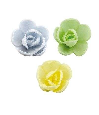 mini rosa ostia giallo azzurro verde- 3 cm