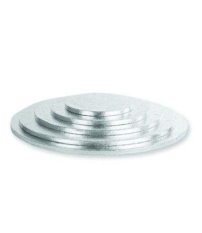 cakeboard argento tondo- 25 cm