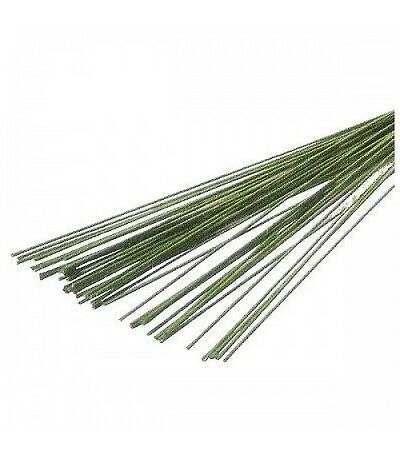 steli per fiori verdi calibro 28 - 50 pezzi
