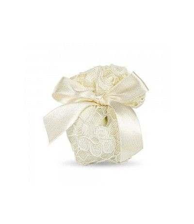 sacchetti avorio macramè- 10 pezzi
