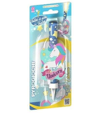 candelotto unicorno- 14 cm