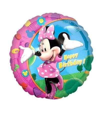 palloncino mylar minnie happy birthday- 45 cm