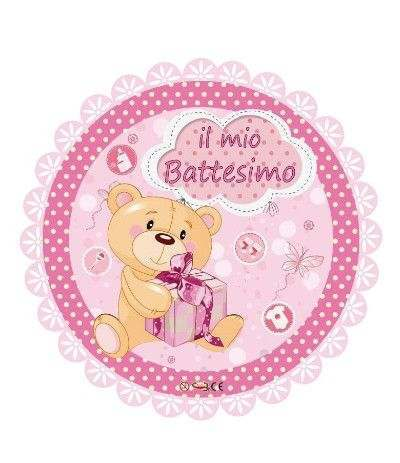 palloncino mylar il mio battesimo rosa- 45cm