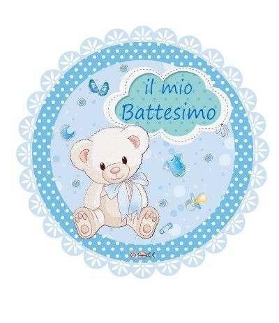 palloncino mylar battesimo azzurro- 45 cm