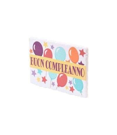 targhetta buon compleanno colorata- 2 modelli