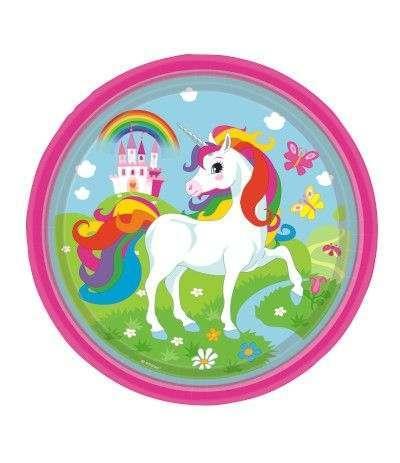 piatti unicorno- 8 pezzi