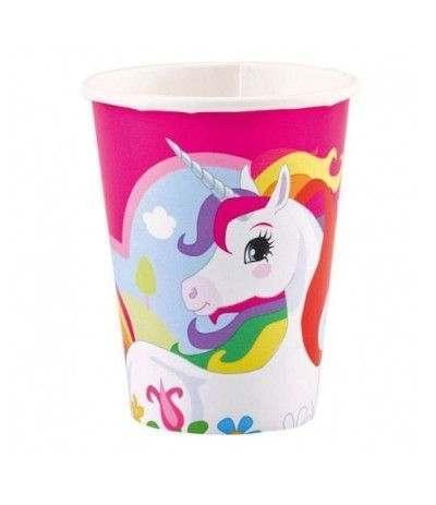 bicchieri unicorno fuxia- 8 pezzi