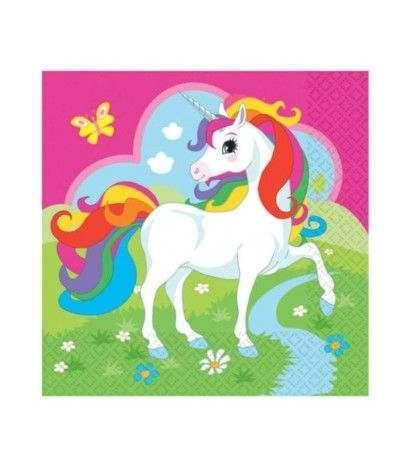 tovaglioli unicorno fuxia- 20 pezzi