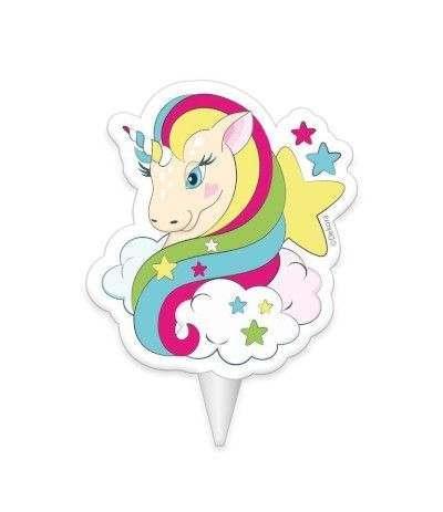 candelina unicorno- 8 cm