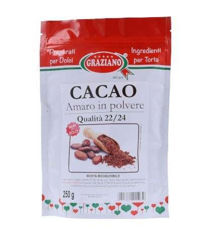 cacao amaro in polvere 250gr