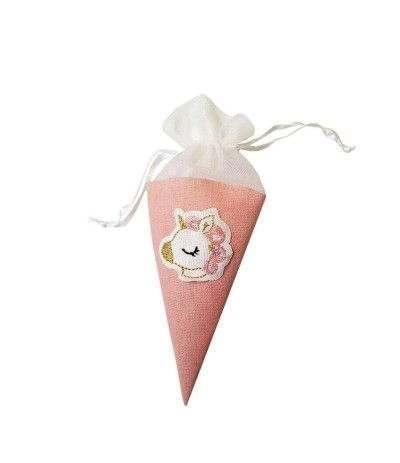 cono rosa unicorno- 12 pezzi