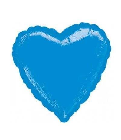 palloncino cuore azzurro- 43 cm