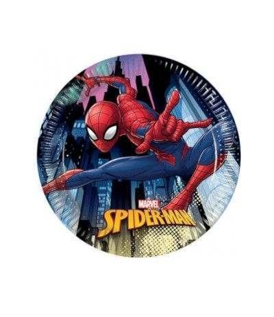 Piattino spiderman- 8 pezzi