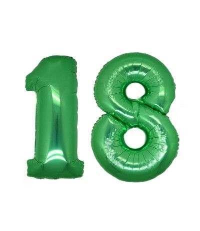 Palloncino mylar 18 anni- 1mt verde