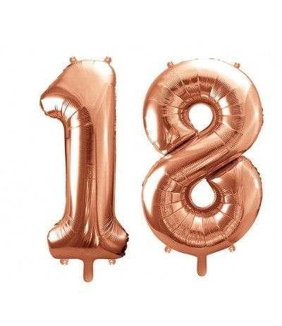 palloncino mylar 18 anni- 1mt rosa gold