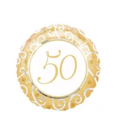 palloncino mylar 50 oro- 43 cm