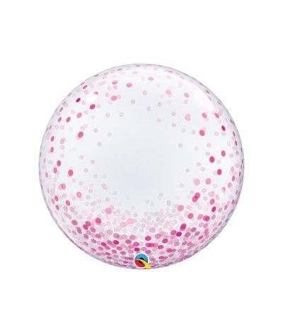 bubble confetti rosa- 61 cm