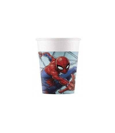 bicchiere spiderman di carta- 8 pezzi