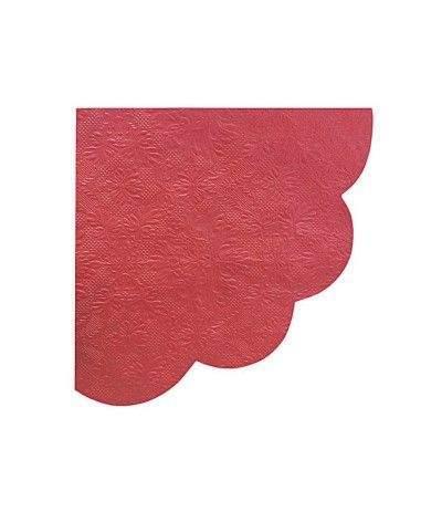 tovagliolo smerlato rosso- 16 pezzi