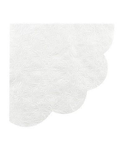 tovagliolo smerlato bianco- 16 pezzi