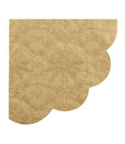 tovagliolo smerlato oro- 33 x 33 cm