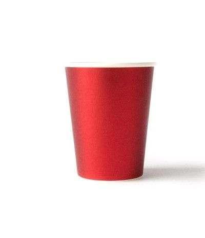 bicchiere satinato rosso- 8 pezzi